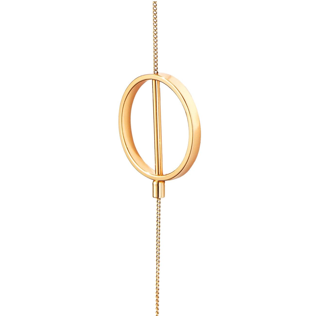 Jenny Bird Rhine Lariat Necklace in High Polish Gold