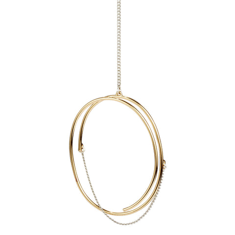 Rill Pendant Necklace By Jenny Bird in Two Tone