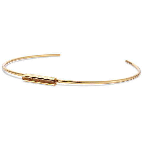 Lewis Choker by Jenny Bird in Gold with Tiger's Eye Stone