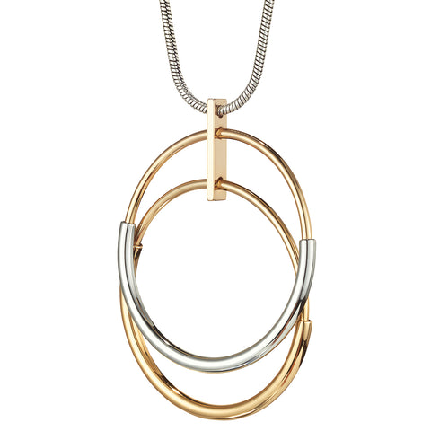 The Lola Pendant by Jenny Bird in Two-Tone