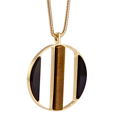 Oriel Pendant by Jenny Bird in High Polish Gold