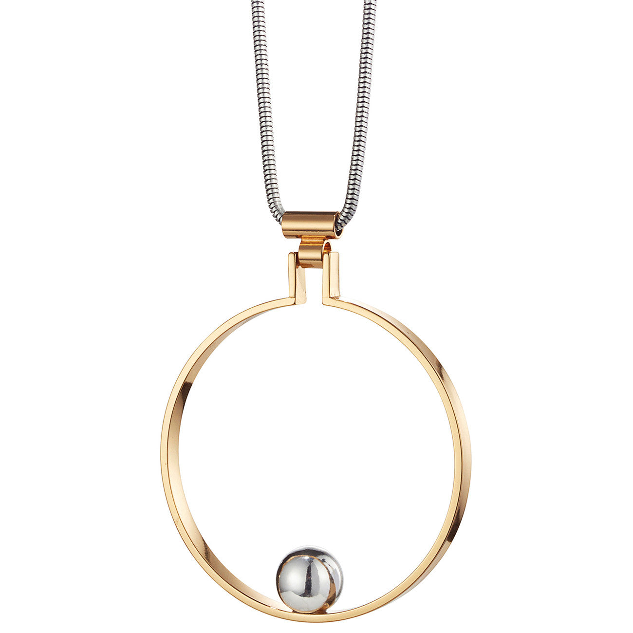 Saros Pendant by Jenny Bird in Two Tone