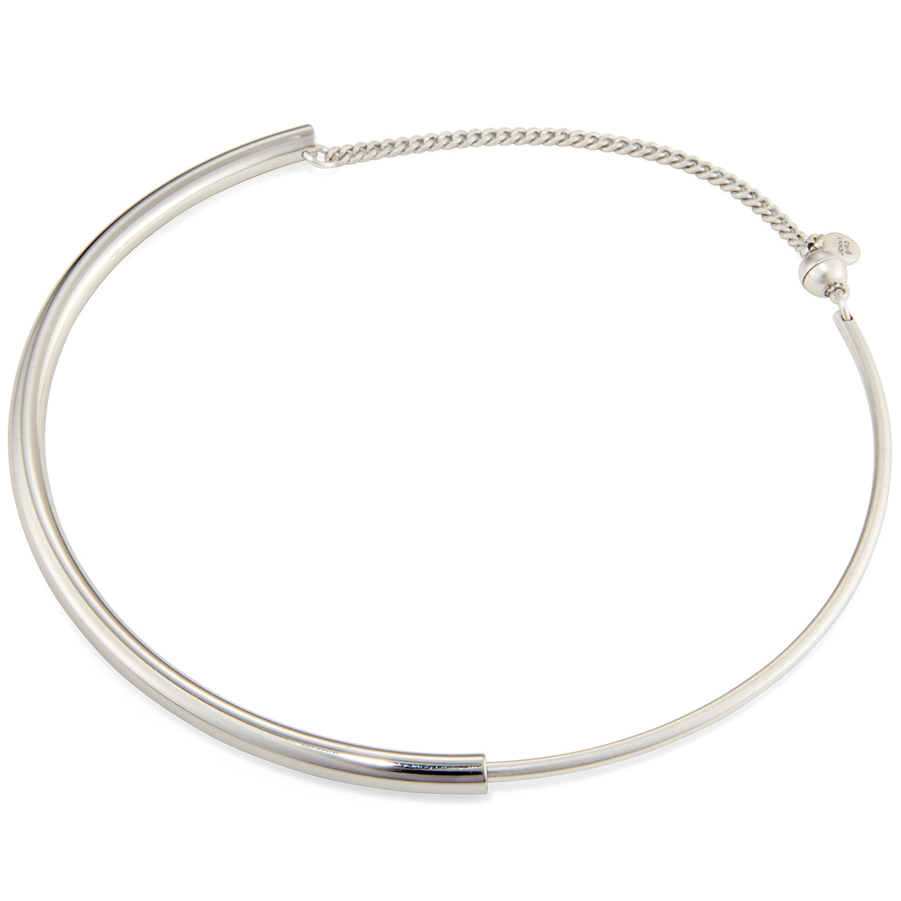The Small Lola Collar by Jenny Bird in Rhodium