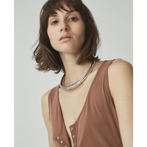 The Large Lola Collar by Jenny Bird in Rhodium