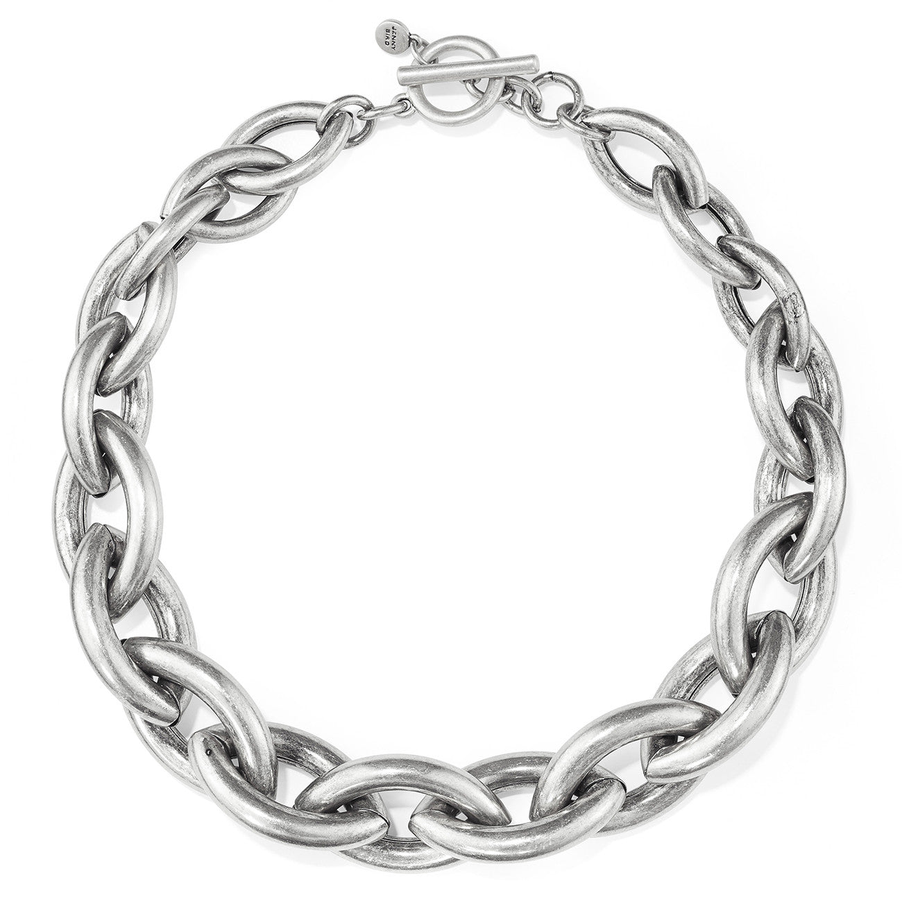 Sloane Collar by Jenny Bird in Oxidized Silver
