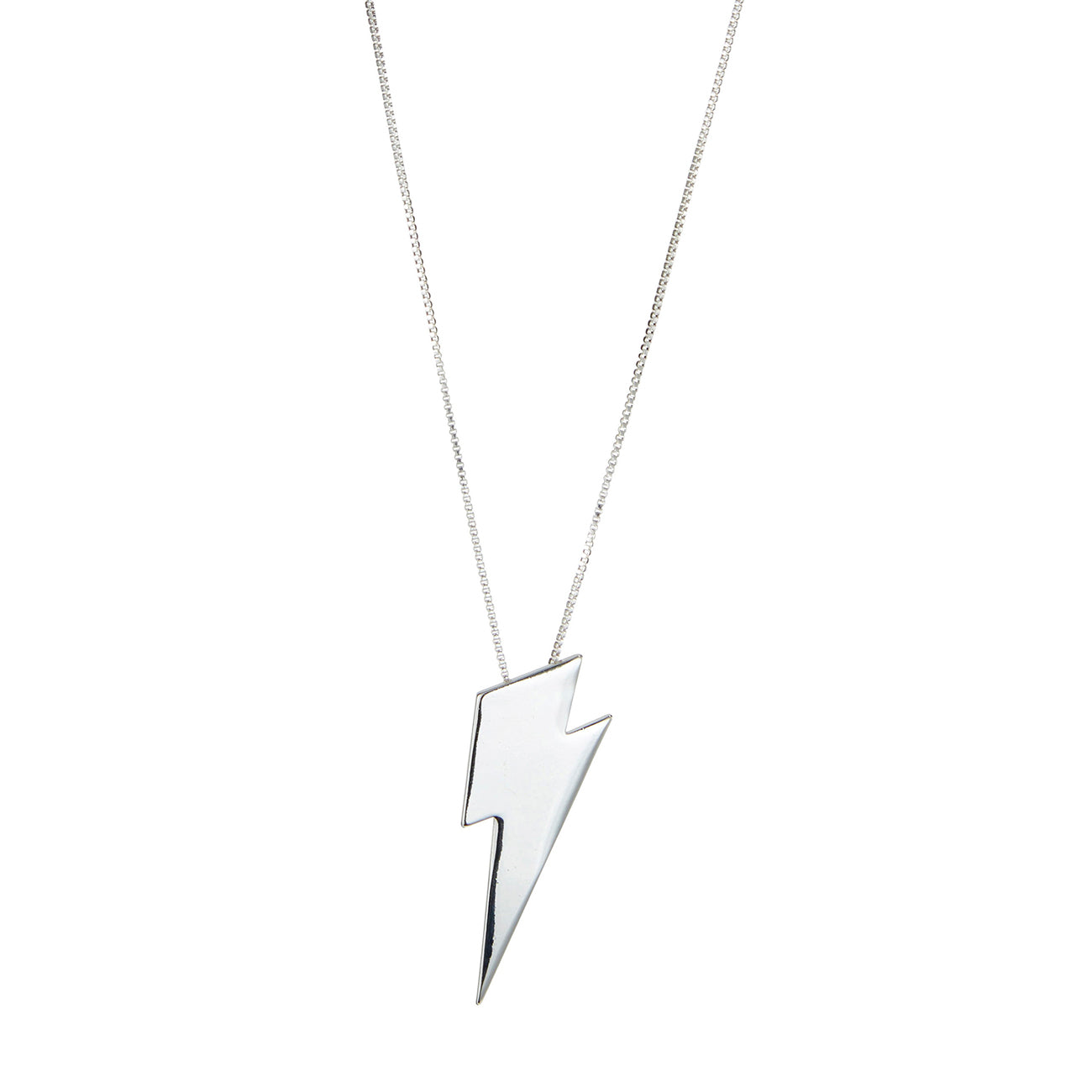 The Thunderstruck Pendant by Jenny Bird in Rhodium