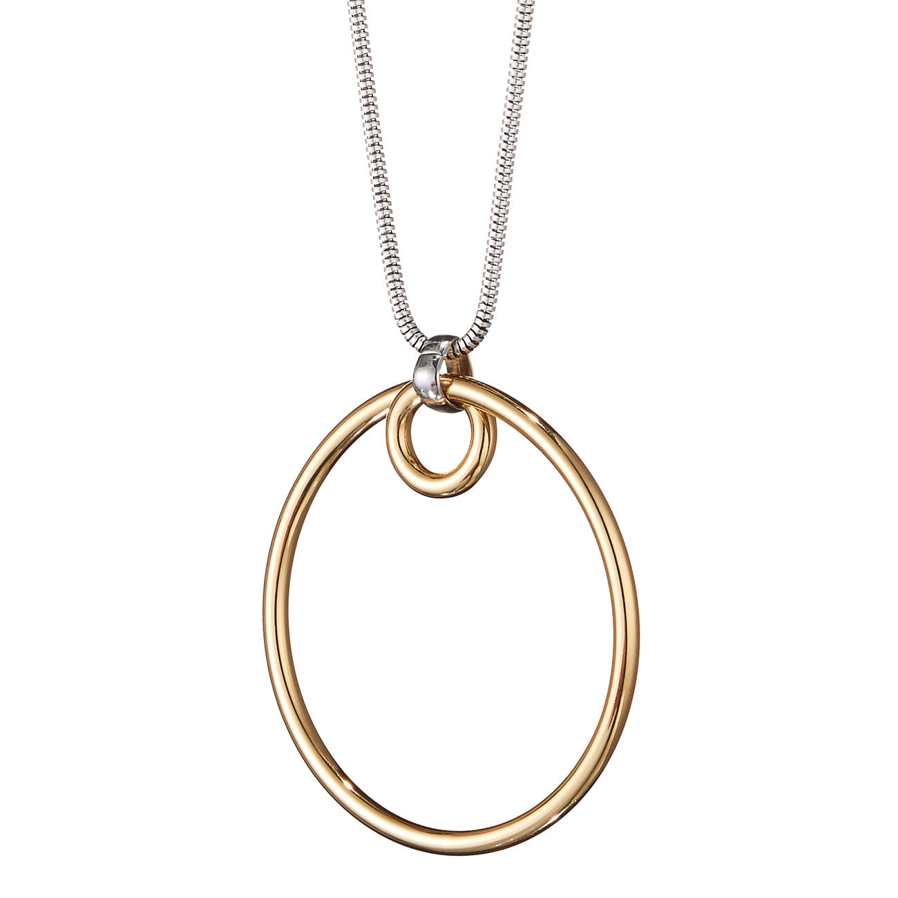 The Loop Pendant by Jenny Bird in Two-Tone