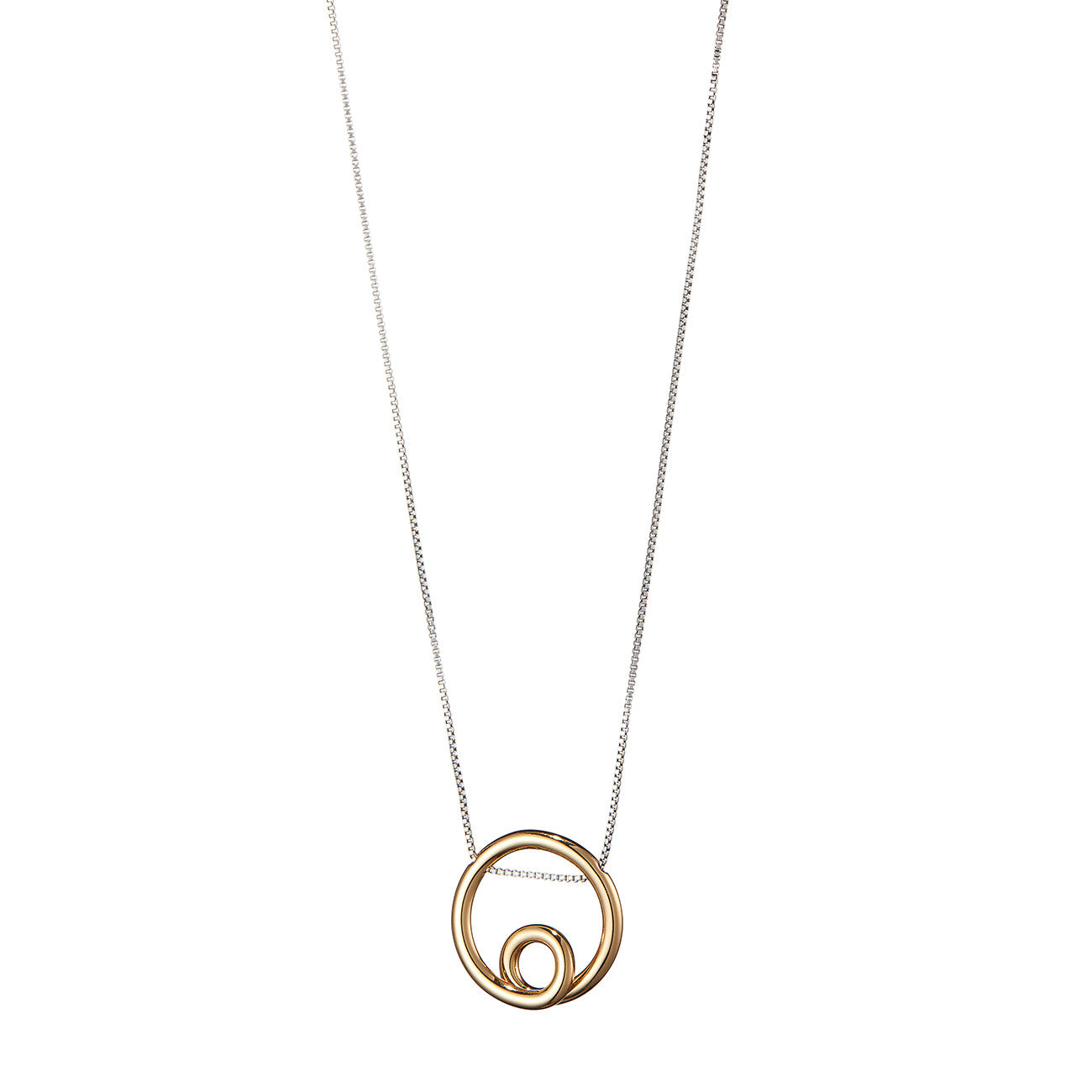 The Mini Loop Pendant by Jenny Bird in Two-Tone