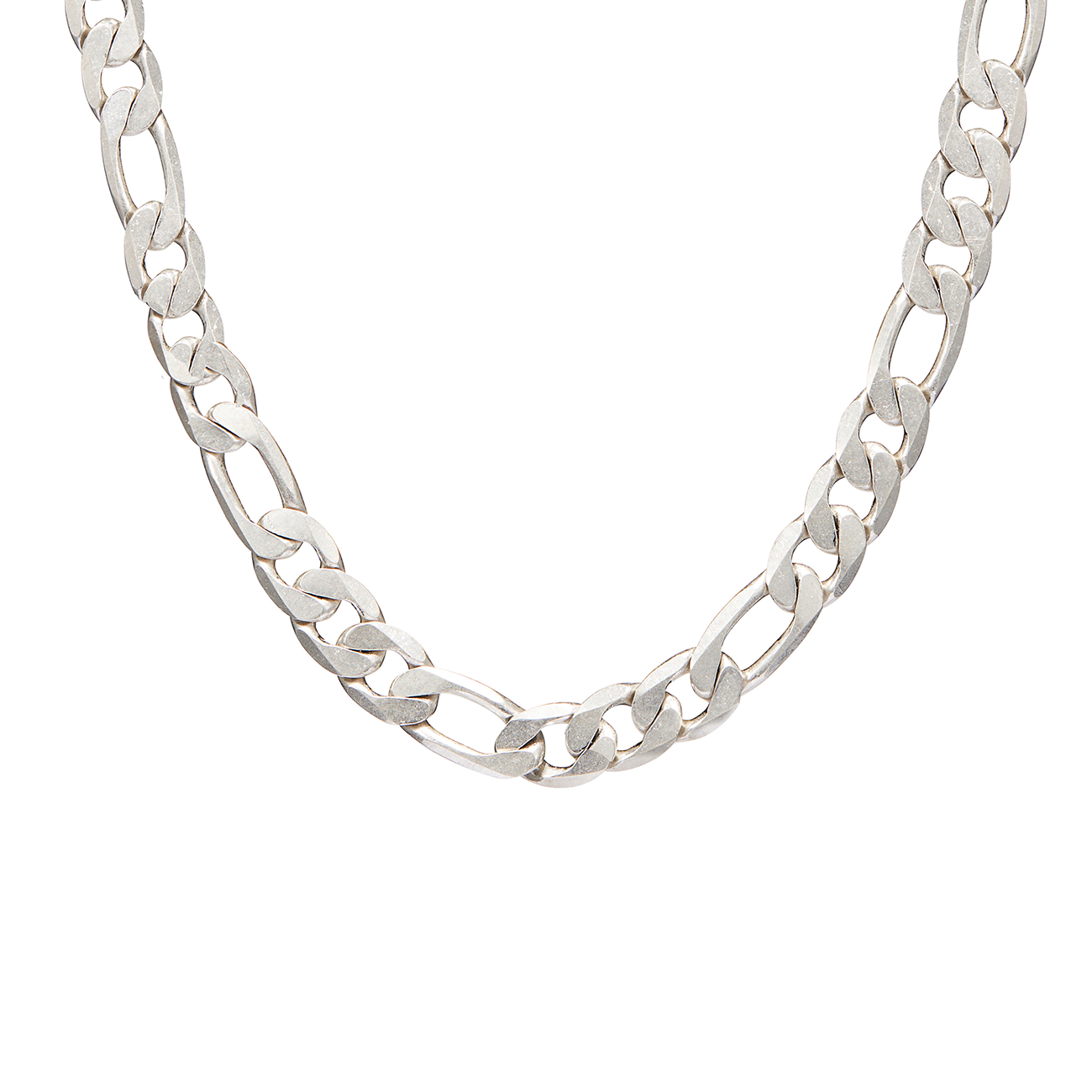 Figaro chain link The Landry necklace in Silver by JENNY BIRD