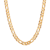 Long figaro chain link The Landry - Long necklace in Gold by JENNY BIRD