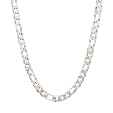 Long figaro chain link The Landry - Long necklace in Silver by JENNY BIRD