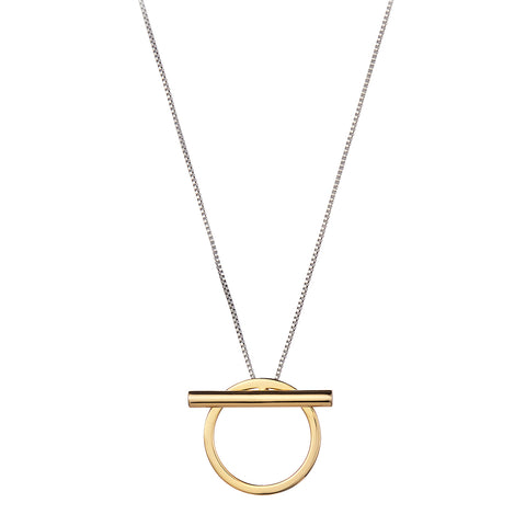 Trust Pendant by Jenny Bird in Two-Tone