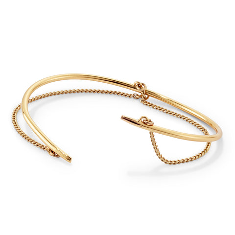 Rill Cuff By Jenny Bird in Gold