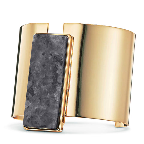 Charlie Cuff by Jenny Bird in Gold with Labradorite Stone