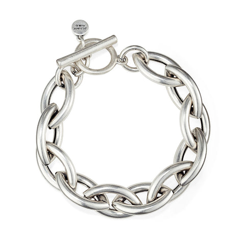 Small Sloane Bracelet by Jenny Bird in Oxidized Silver