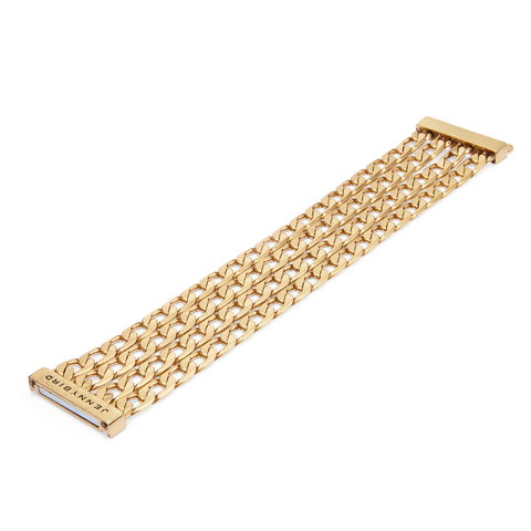 Gold chain link Walter Cuff - Wide by JENNY BIRD