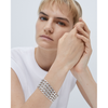 Silver chain link Walter Cuff - Wide by JENNY BIRD