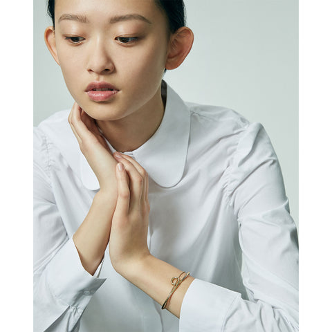 The Loop Cuff by Jenny Bird in High Polish Gold