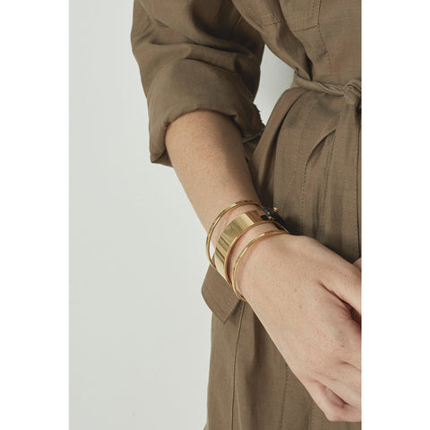 The Ryder Cuff by Jenny Bird in High Polish Gold
