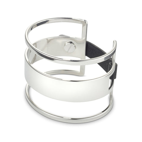 The Ryder Cuff by Jenny Bird in Rhodium