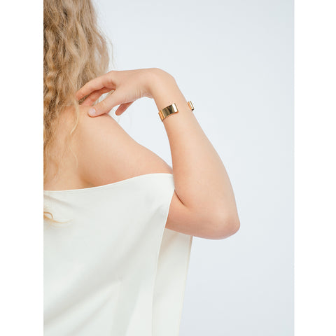 The Serra Cuff by Jenny Bird in High Polish Gold