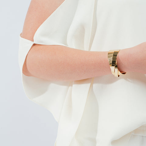 The Lovers Cuff by Jenny Bird in High Polish Gold