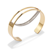 Gold and Silver Thin Chloe Cuff chain bracelet by Jenny Bird