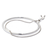 Silver adjustable Sadie Bangle bracelet by Jenny Bird