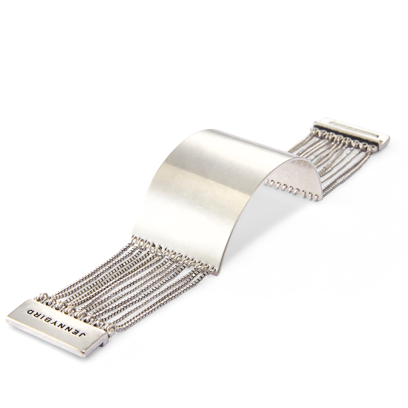 Silver Billie Cuff chain bracelet by Jenny Bird
