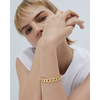 Gold chain link Walter Bracelet by JENNY BIRD