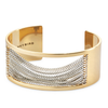 Wide gold and silver Chloe Cuff chain bracelet by Jenny Bird