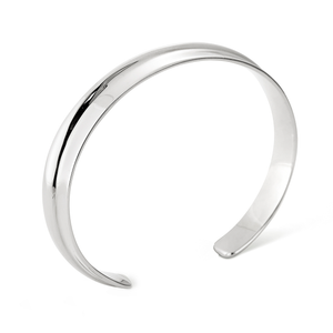 Slim open cuff Ora Bracelet - Slim in silver by JENNY BIRD
