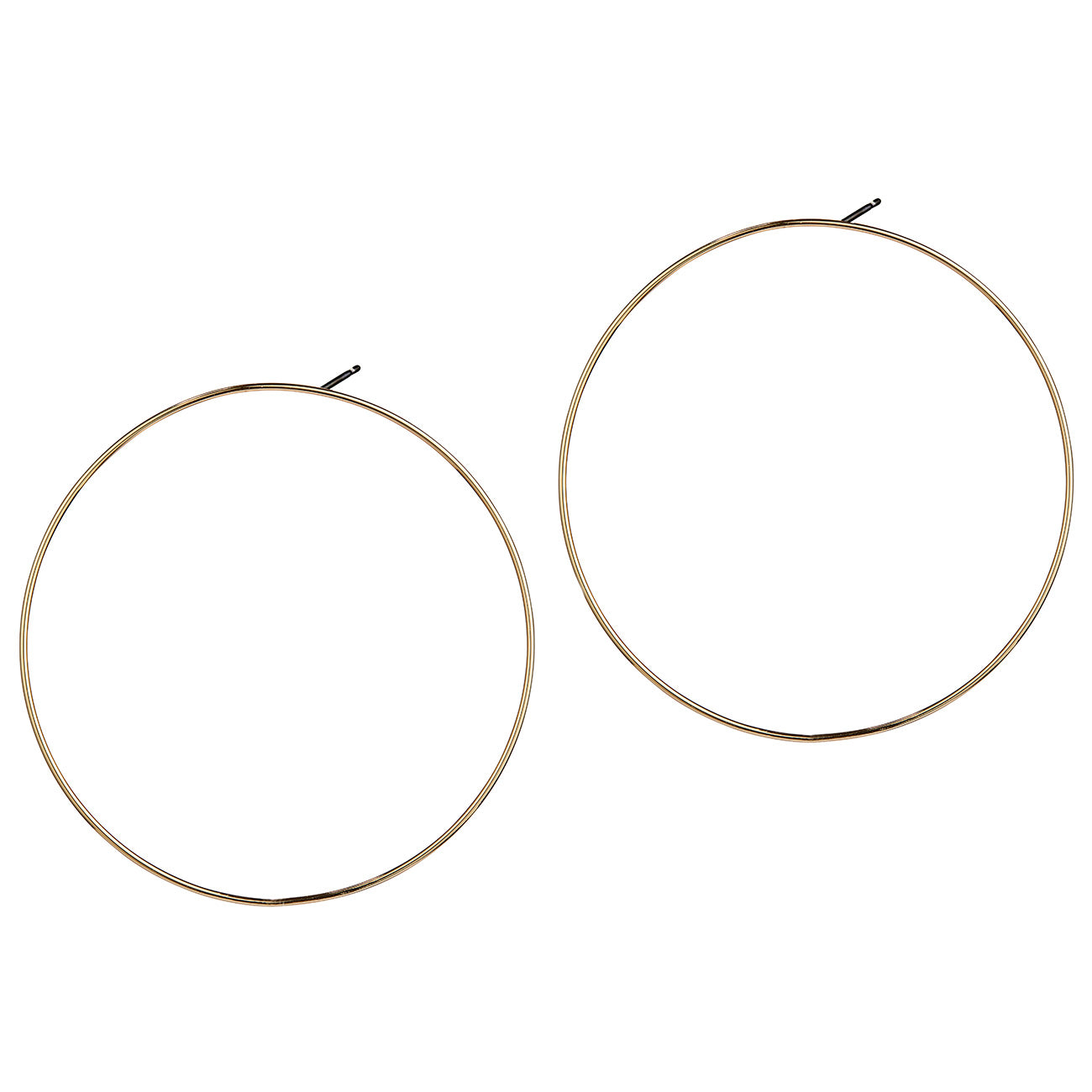 Boss Hoops by Jenny Bird in Gold