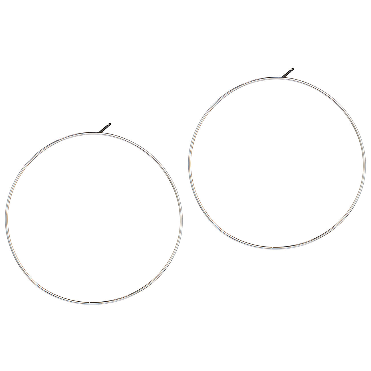 Boss Hoops by Jenny Bird in Silver