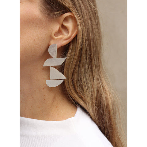 Made of Love Earrings by Jenny Bird in Sterling Silver