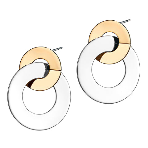 Last Dance Earrings by Jenny Bird in Two-Tone