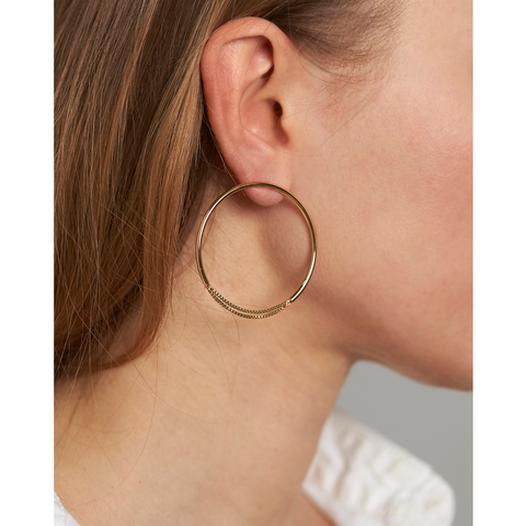 Gold medium chain Sadie Hoops by Jenny Bird