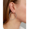 Silver medium chain Sadie Hoops by Jenny Bird
