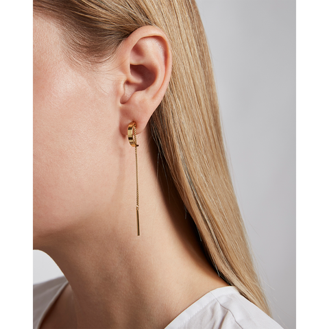Gold Paloma chain drop earrings by Jenny Bird