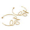 Love Hoops Earrings by Jenny Bird in Gold