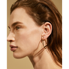 Medium gold Trust Hoops earrings by Jenny Bird