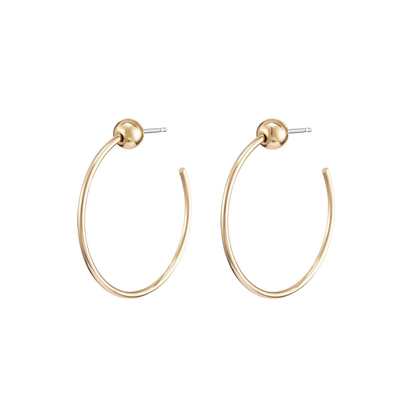 Extra small XS Icon Hoops earrings in Gold by JENNY BIRD