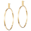 Large rectangle panel Agnes Hoops by JENNY BIRD in Gold