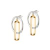 Gold and silver interlaced Harley Hoops earrings by JENNY BIRD