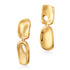 Gold drop natural shaped Hera Earrings by JENNY BIRD