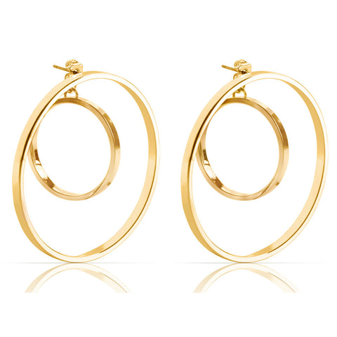 Jenny Bird Rise Hoop Earrings in High Polish Gold
