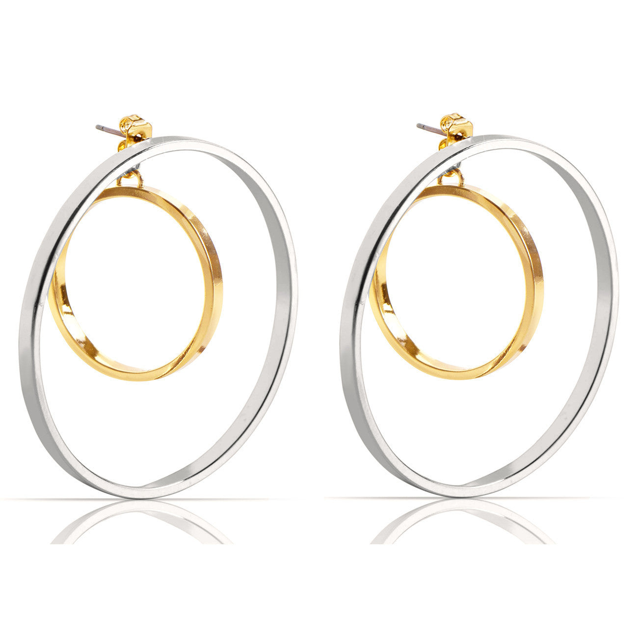 Jenny Bird Rise Hoop Earrings in Two Tone