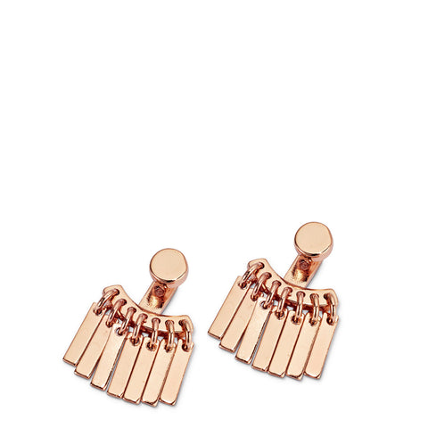 Raya Ear Jackets By Jenny Bird in Rose Gold