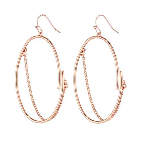 Small Rill Hoops By Jenny Bird in Rose Gold