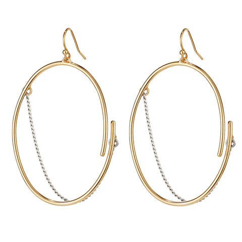 Small Rill Hoops By Jenny Bird in Two Tone